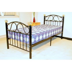 Lisa King Size Bed Silver