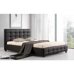 Lattice PU King Size Bed Black