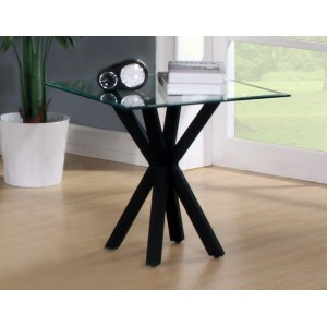 Langley Gloss Lamp Table Black