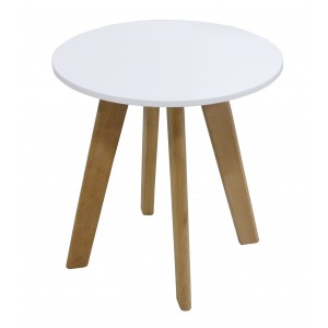 Belgium Round Lamp Table White