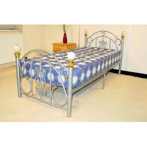Juliana Single Bed Silver