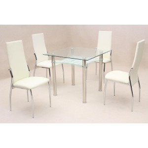 Jazo Dining Table Chrome