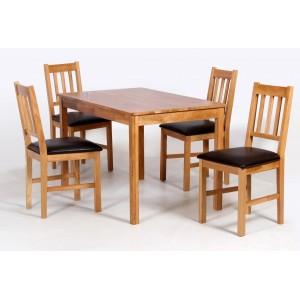 Hyde Solid Oak Dining Set...