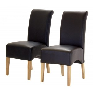 Hilton PU Chair with Oak...