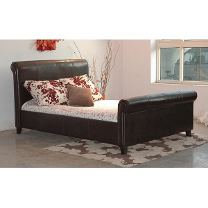 Henley PU King Size Bed Brown