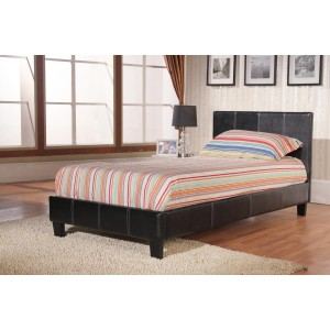 Haven PU Single Bed Black