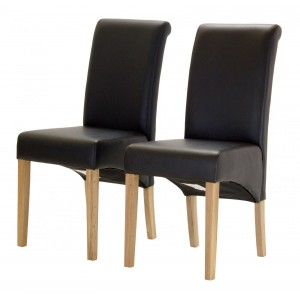 Havana PU Chair with Oak...