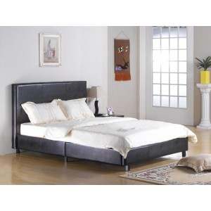Fusion PU Double Bed Black