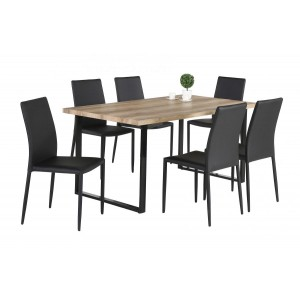 Felix PU Chairs Black with...