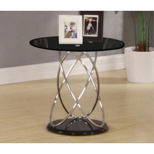 Eclipse Black Lamp Table