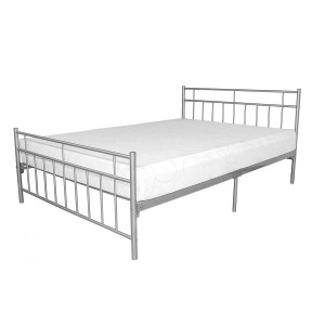 Davina Metal Bed 4 Foot Silver