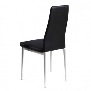 Tatum PU Chair Black &...
