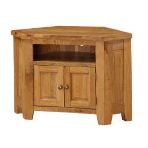 Acorn Solid Oak TV Unit Corner