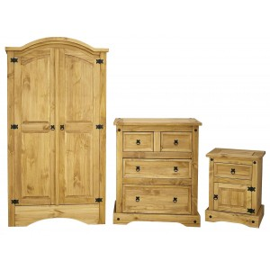 Corona Trio Wardrobe,Chest...