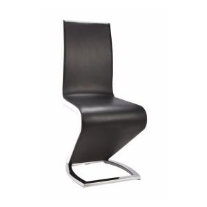 Aldridge Dining Chair Black with White PU Sides (2s)