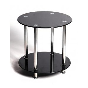 Benton Black Lamp Table