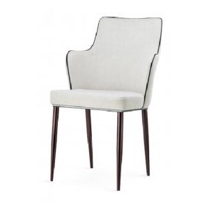 Capri PU Chairs White with...