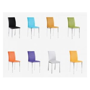 Carina PU Chairs Chrome &...