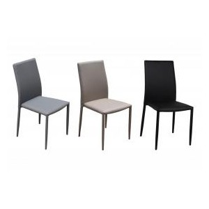 Chatham PU Chair Black with...