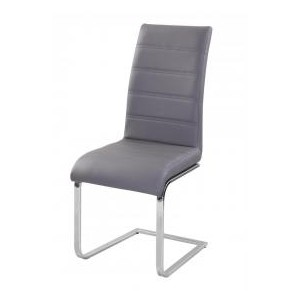 Chiswell PU Chairs Chrome &...