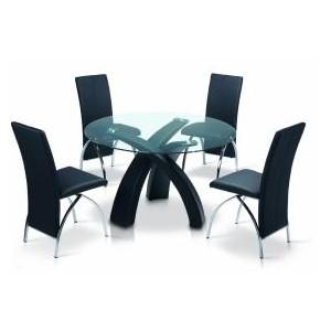 Marston PU Chair Crome & Black