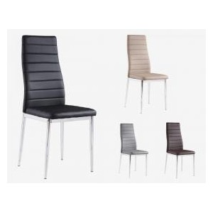 Pearl PU Chairs Beige with...