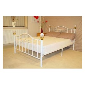 Skyline Double Bed White