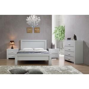 California King Size Bed Grey