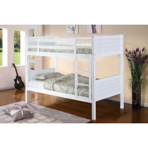 Castleton Solid Wood Bunk Bed White