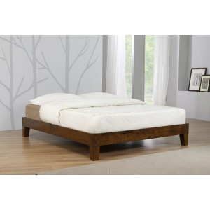 Charlie Platform Bed Double Rustic Oak