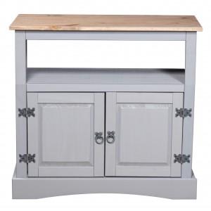 Corona Grey TV Cabinet Corner