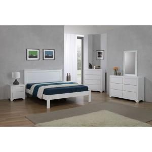 Etna King Size Bed White