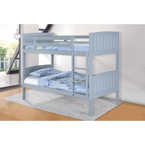 Hayes Solid Wood Bunk Bed Grey
