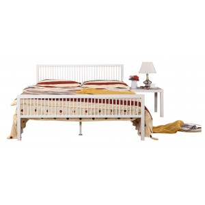 Karachi Double Bed White