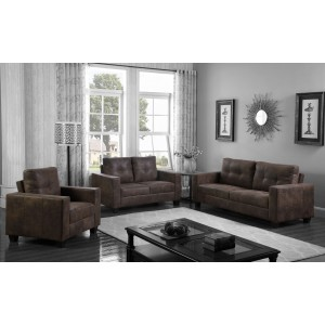 Lena Fabric 2 Seater Brown