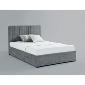 Livingstone Storage Fabric Double Bed Grey