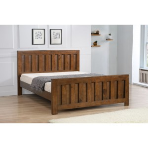 Maxfield King Size Bed Rustic Oak