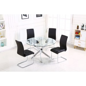 Samurai PU Chairs Chrome &...