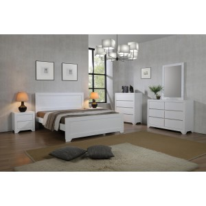 Zircon Single Bed White