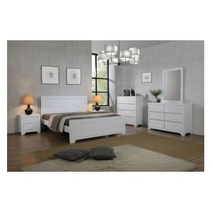 Zircon King Size Bed White