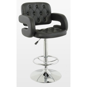 Utah Bar Stool PU Chrome &...