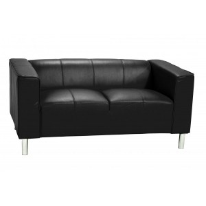 Toscana Sofa PU 2 Seater Black