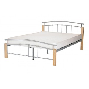 Tetras King Size Bed Silver...