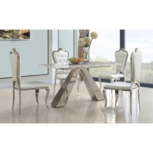 Marble Dining Table with...