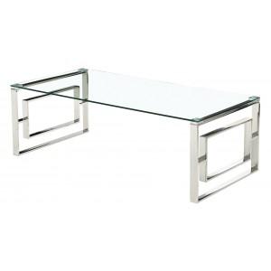 Memphis Silver Clear Glass...