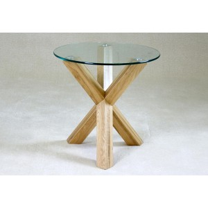Saturn Solid Oak Lamp Table...