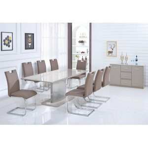 Rembrock High Gloss Ext Dining Table Champagne