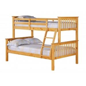 Porto Triple Bunk Bed Pine
