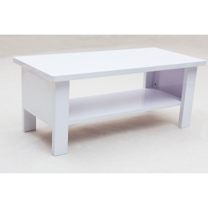 Peru Rectangle Coffee Table High Gloss White