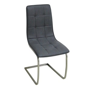 Olivia PU Chairs Chrome & Grey